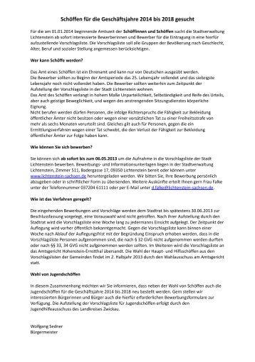 Schöffen für die Geschäftsjahre 2014 bis 2018 gesucht - lichtenstein ...