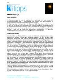 Nanotechnologie - Konsumentenforum kf
