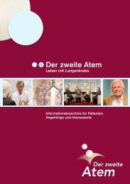 Broschüre Der Zweite Atem - Leben mit Lungenkrebs 2010