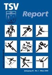 TSV-Report 2009-1 (Editorial voll)_Ottobrunn - TSV Ottobrunn eV