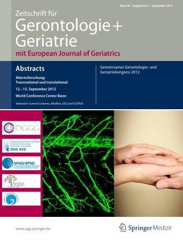Gerontologie+ Geriatrie - SGG-SSG