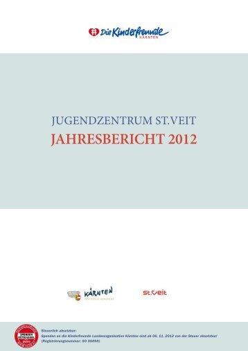 """JAHRESBERICHT 2012 - Jugendzentrum """"Come in"""" St. Veit/Glan"""