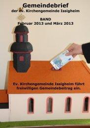 Gemeindebrief - Evangelische Kirchengemeinde