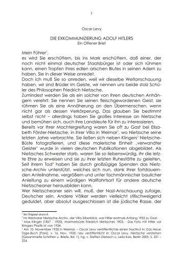 Übersetzung und Erläuterung zu Oscar Levis Offenem ... - Kondiaf