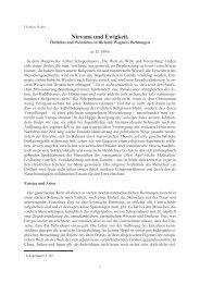 Nirvana und Ewigkeit bei Richard Wagner - Huber-tuerkheim.de