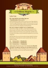 Goldene Regeln - Das Flammkuchenhaus