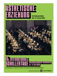 festivalzeitung nr. 07 / 26.06.2009 - 17. Internationale Schillertage