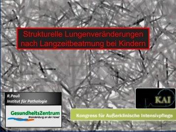 Strukturelle Lungenveränderungen nach Langzeitbeatmung bei ...