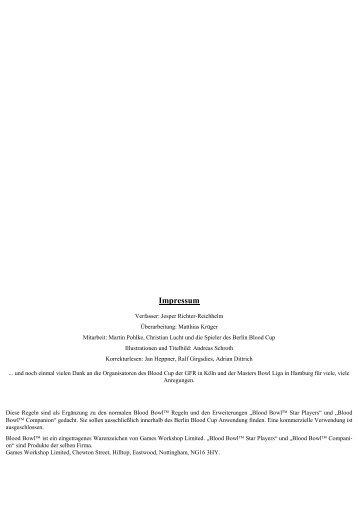 Regeln BC10 - Richter-Reichhelm im Internet