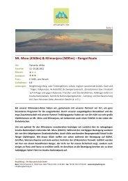 Mt. Meru (4568m) & Kilimanjaro (5895m) – Rongai Route