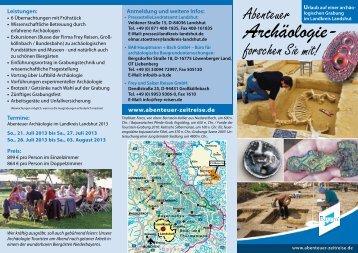 www.abenteuer-zeitreise.de - Tourismus Landshut