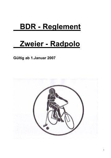 BDR - Reglement Zweier - Radpolo