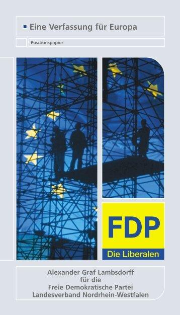 Eine Verfassung für Europa - Graf Lambsdorff, Alexander