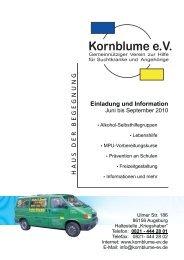 Info-Heft Juni bis September 2010 - Kornblume eV