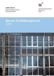 Berner Fortbildungskurse 2007