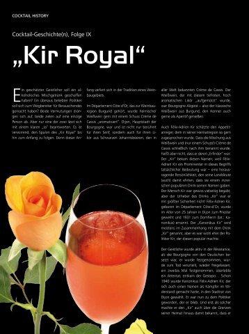"""Kir Royal"" - Drinks - Das Magazin für Barkeeper & Gäste"