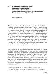 Zusammenfassung und Schlussfolgerungen. Die ... - Peer Pasternack