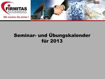 FIRMITAS - Seminarkalender - SecuCity.EU