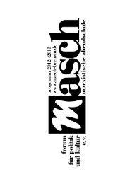 MASCH Programm 2012-2013 - Forum für Politik und Kultur e.V.
