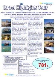 die schönste Tour für Einsteiger, um Israel zu erleben und