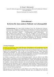 Zeitwohlstand - Deutsche Gesellschaft für Zeitpolitik