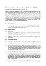 Satzung über die Erhebung von Abwassergebühren der Stadt Viersen