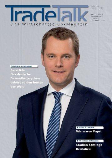 Das Wirtschaftsclub-Magazin - TradeTalk