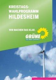 Kreistagswahlprogramm Bündnis 90/Die Grünen