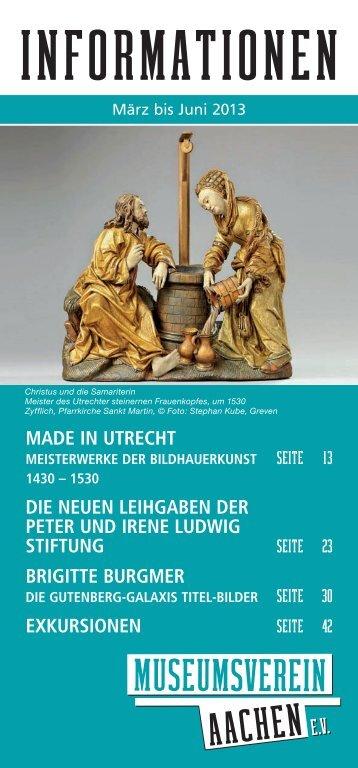 Programmheft 2013/1 - Museumsverein Aachen