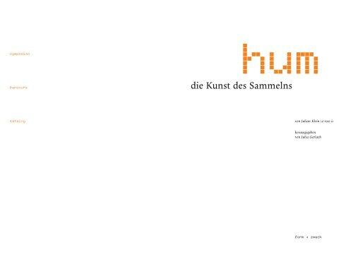die Kunst des Sammelns - Julian Klein