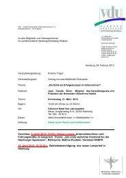 Vorschau: 9. April 2013, 19 Uhr, Hanse Lounge ... - VdU