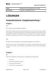 Aufgabensammlung I - Lösungen - VWL-online