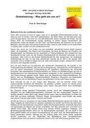 Globalisierung - was geht sie uns an? - Evangelischer Kirchenbezirk ...
