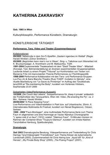 CV Katherina Zakravsky - Programized