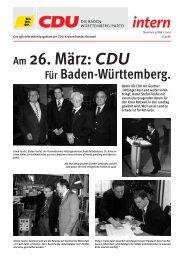 Am 26. März: CDU - Neue Internetpräsenz auf sunmix.de
