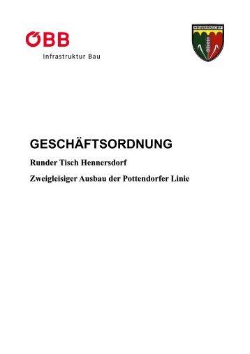 GESCHÄFTSORDNUNG - Gemeinde Hennersdorf