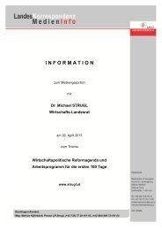 Medieninfo vom 26.04.2013: Wirtschaftspolitische ... - TMG