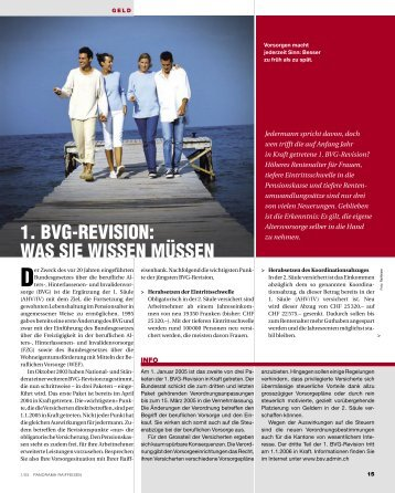 1. BVG-REVISION: WAS SIE WISSEN MÜSSEN - Raiffeisen