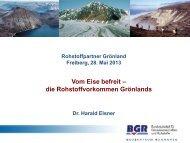 Vom Eise befreit - die Rohstoffvorkommen Grönlands