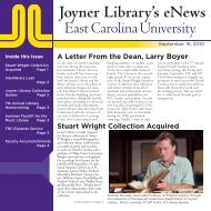 Joyner Library Collection Guides - East Carolina University