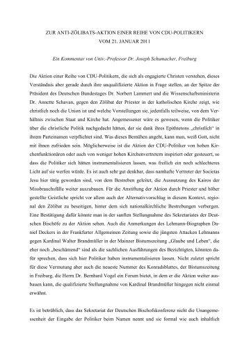 stellungnahme zu der aktion einer reihe von cdu ... - Theologie heute