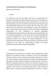 1 Theoretical Sampling als Auswahlstrategie für Online ...