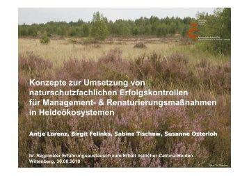 Konzepte zur Umsetzung von naturschutzfachlichen ...