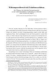 Wettbewerb als Evolutionsverfahren - Partei der Vernunft