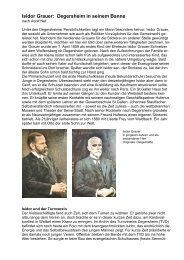 Isidor Grauer: Degersheim in seinem Banne