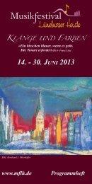 14. - 30. JUNI 2013 - Musikfestival