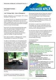 Newsletter des Regionalverbundes - Ausgabe 6 ... - Thüringer Wald