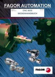 CNC 8035 - Bedienhandbuch - FAGOR AUTOMATION Schweiz
