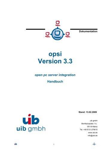 opsi Version 3.3 - opsi Download - uib
