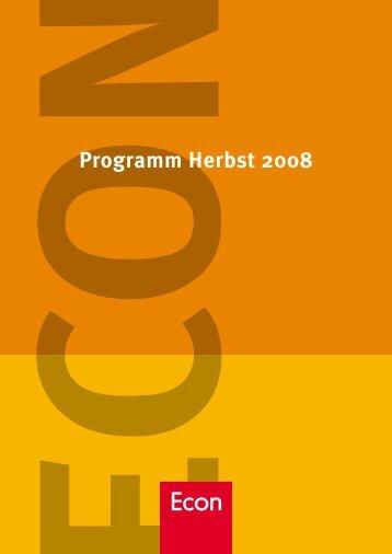 Programm Herbst 2008 - bei den Ullstein Buchverlagen